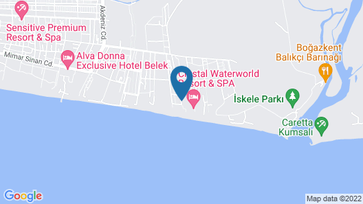 Throne Seagate Belek Hotel Map