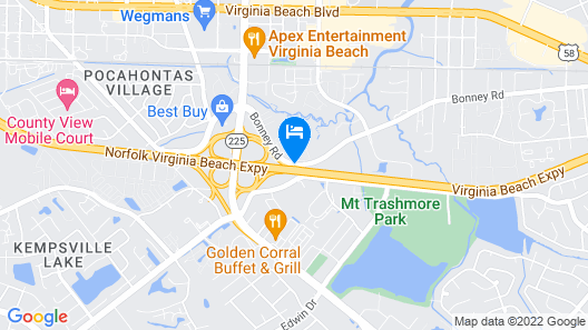 Extended Stay America Virginia Beach - Independence Blvd. Map