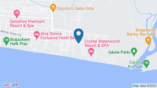 Kirman Belazur Resort & Spa - All Inclusive Map