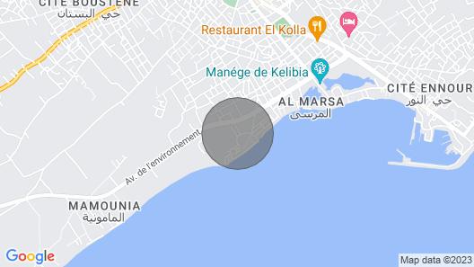 Airbetter - Luxurious Studio Beach Bungalow Kelibia Map
