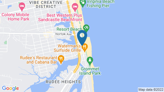 DoubleTree by Hilton Virginia Beach Oceanfront South Map