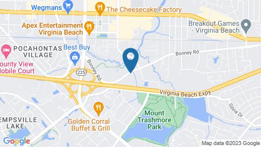 Candlewood Suites Virginia Beach Town Center, an IHG Hotel Map