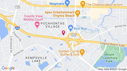 Motel 6 Virginia Beach, VA Map