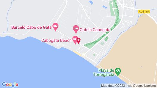 Cabogata Beach Hotel & Spa Map