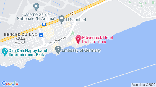 Movenpick Hotel du Lac Tunis Map