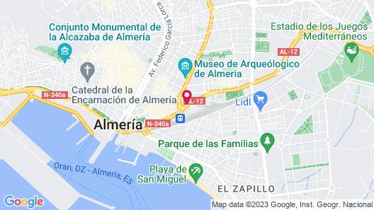 NH Ciudad de Almeria Map