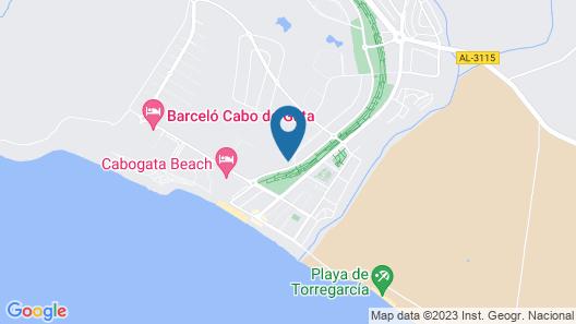 CABO DE GATA; APARTMENT 2 terraces, golf course, beaches, pools, paddle, plenty of sunshine Map
