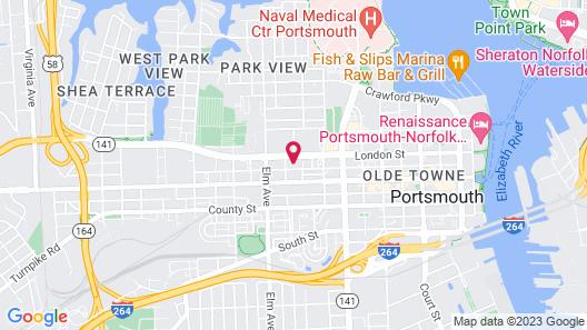 Motel 6 Portsmouth, VA Map