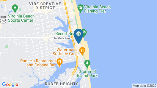 Quality Inn & Suites Oceanfront Map