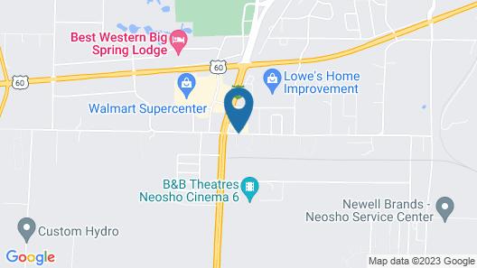 Booneslick Lodge of Neosho Map