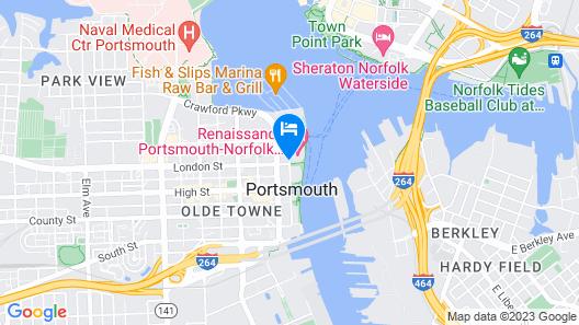 Renaissance Portsmouth-Norfolk Waterfront Hotel Map