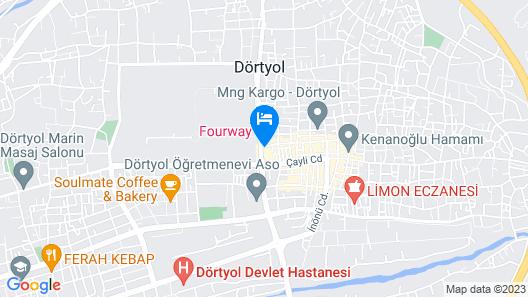 Fourway Hotel SPA & Restaurant Map