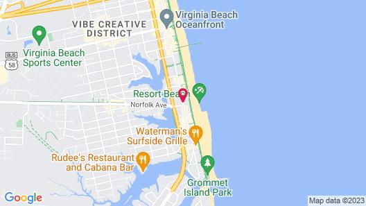 SpringHill Suites by Marriott Virginia Beach Oceanfront Map
