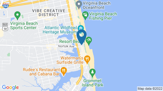 SpringHill Suites by Marriott Virginia Beach Oceanfront Map