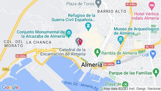 Hotel Catedral Almería Map