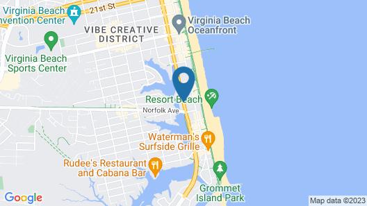 Rodeway Inn by the Beach Map