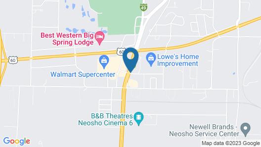 Super 8 by Wyndham Neosho Map