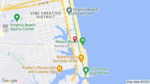 Days Inn by Wyndham Virginia Beach At The Beach Map