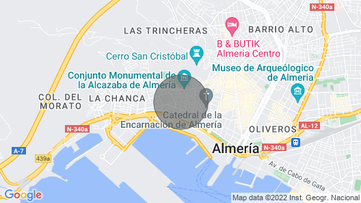 Charming house in the historic center of Almeria  Map