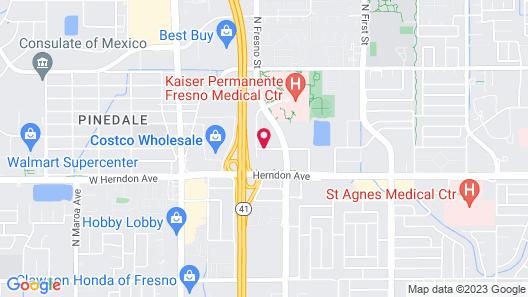 Hampton Inn & Suites Fresno Map