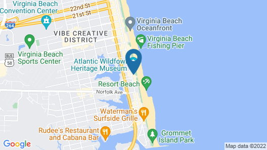 Surfbreak Oceanfront Hotel, Ascend Hotel Collection Map