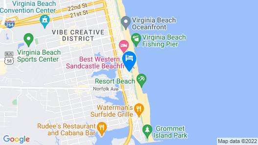 Surfbreak Oceanfront Hotel, Ascend Hotel Collection Map