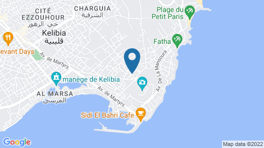 S 2 1km From the Beach in Kelibia Map