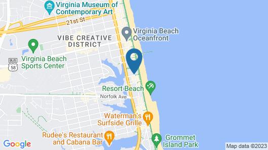 Baymont by Wyndham Virginia Beach Oceanfront Map