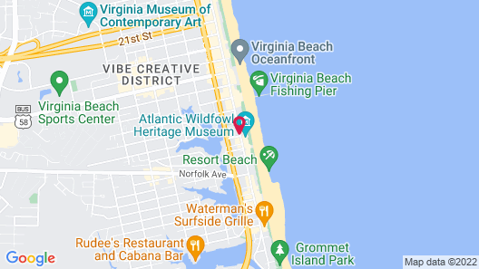 Four Points By Sheraton Virginia Beach Oceanfront Map