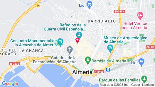 Hotel Nuevo Torreluz Map