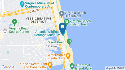 Baymont by Wyndham Virginia Beach Oceanfront Map