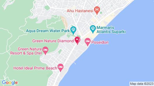 Green Nature Diamond Hotel Map