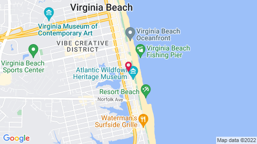 Best Western Plus Sandcastle Beachfront Hotel Map