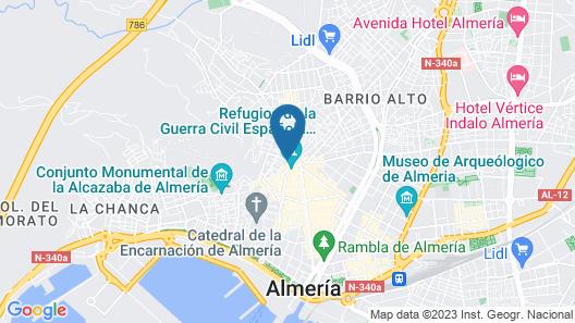Hotel La Perla Map