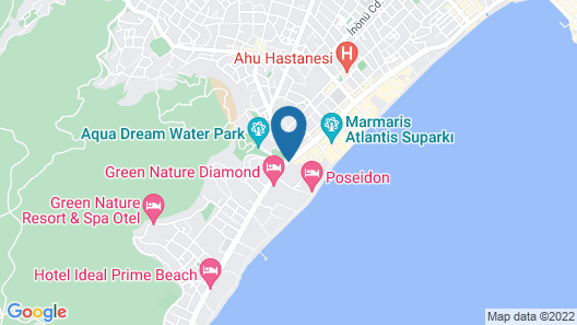 Blue Bay Platinum Hotel Map
