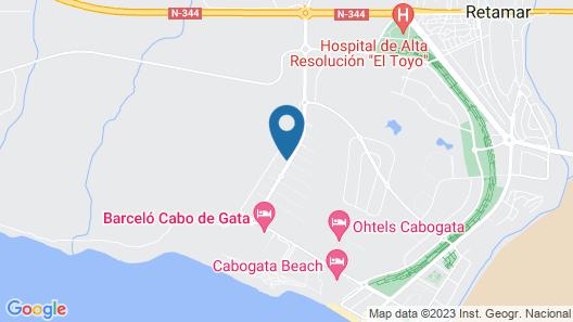 Toyo-golf-vieressä Luonnonpuisto Cabo de Gata Upean Merinäköalan! Ranta 300m Map