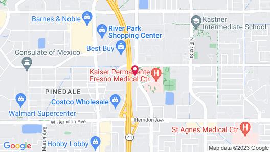 Hyatt Place Fresno Map