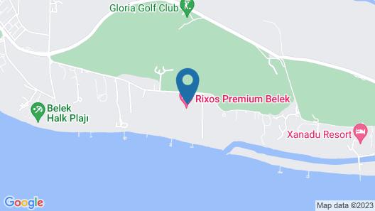 Rixos Premium Belek - The Land of Legends Access Map