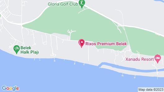 Rixos Premium Belek - All Inclusive Map
