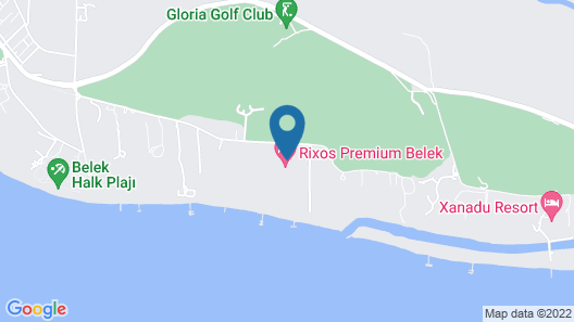 Rixos Premium Belek - All Inclusive Map