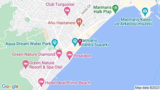 Aurasia Beach Hotel Map