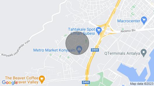 Plaj 2 km Al??veri? Merkezleri 3 km Antalyan?n Merkezinde Harika Konumda Map
