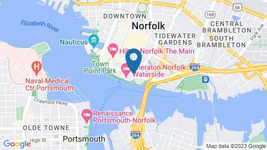 Sheraton Norfolk Waterside Hotel Map