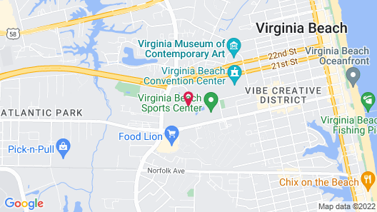 DoubleTree by Hilton Virginia Beach Map