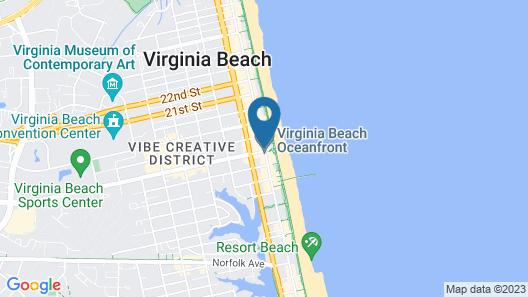 Super 8 by Wyndham Virginia Beach Oceanfront Map