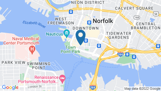 Norfolk Waterside Marriott Map