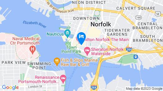 Norfolk Waterside Marriott Map