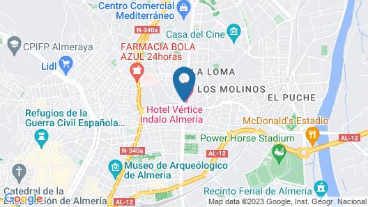 TRYP Indalo Almería Hotel Map