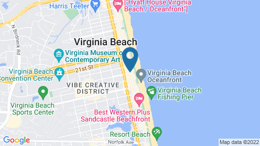 Travelodge by Wyndham Suites Virginia Beach Oceanfront Map