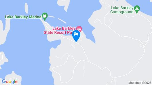 Lake Barkley State Resort Map
